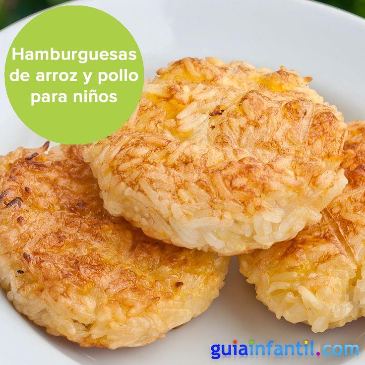 Convierte una receta de arroz con pollo en una hamburguesa - Hamburguesas de pescado para ninos ...