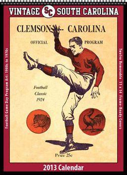 South Carolina vintage calendar