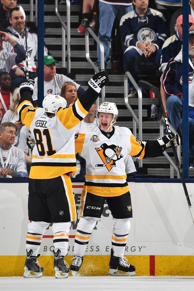 April 16, 2017 at Columbus (Round 1, Game 3): Jake Guentzel scored in overtime to become the first rookie in Penguins history to record a hat trick in the playoffs. Final Score, 5-4 Penguins.