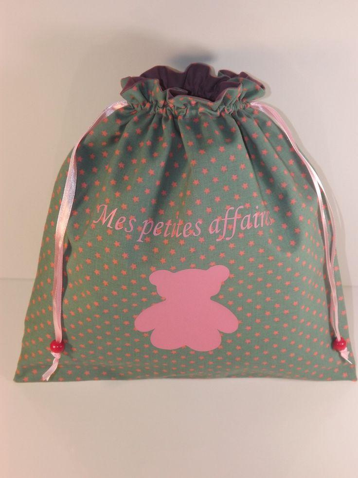 Pochon personnalisable pour fille pour vêtements de rechange : Sacs enfants par les-p-tites-zettouilles