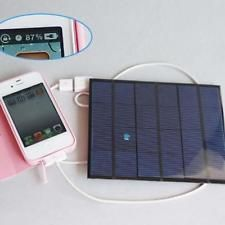 6V Portable Outdoor Solar Panel Power Bank Pack USB External Battery Charger DH