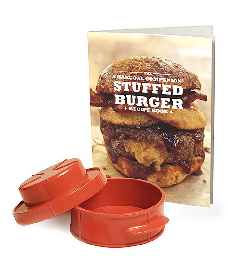 Look at this #zulilyfind! Stuffed Burger Recipe Paperback & Burger Press Set by Charcoal Companion #zulilyfinds