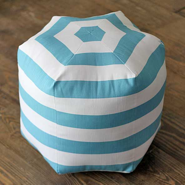how to make a hexagon diy floor pouf pouf ottoman. Black Bedroom Furniture Sets. Home Design Ideas
