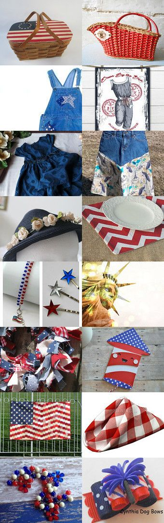 BELIEVE IN THE RED WHITE AND BLUE! by Donna Allen on Etsy--Pinned+with+TreasuryPin.com