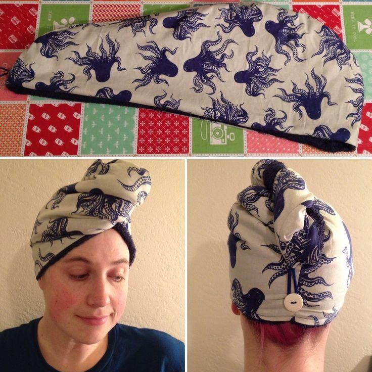 Terry Cloth Towel Hair Wrap Tutorial- Hart's Fabric