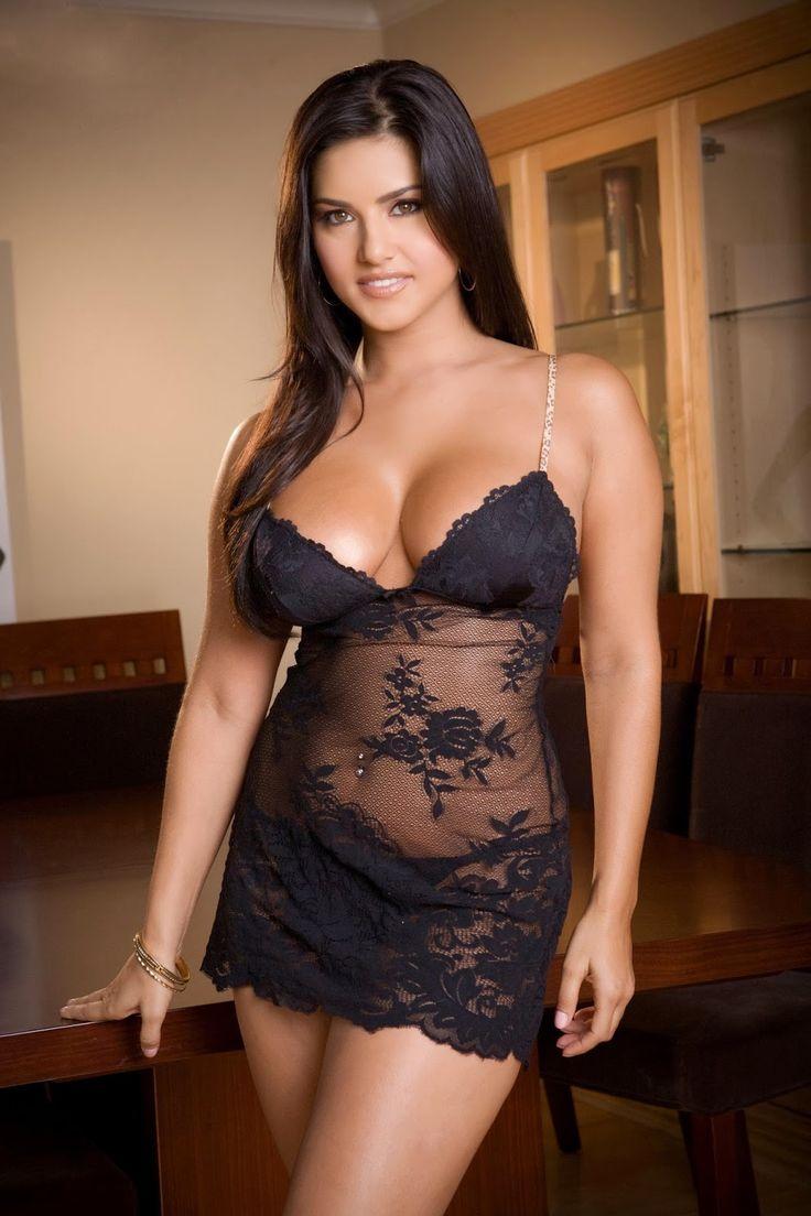 Beautiful Images Sunnyleone Black Transparent Short Skirt -9690