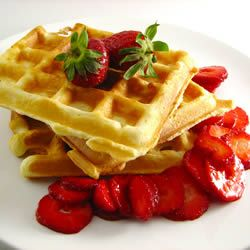 Classic Waffles Recipe, very easy! I halved the recipe (which says makes 12....) to make 3 perfect and yummy waffles