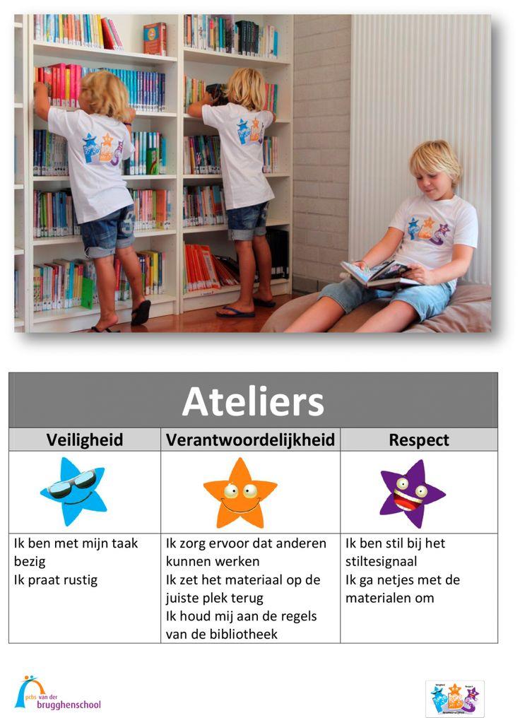 Onze school - SWPBS - Opening PBS en onthulling beeldmerk - Posters gedragsverwachtingen van der Brugghenschool
