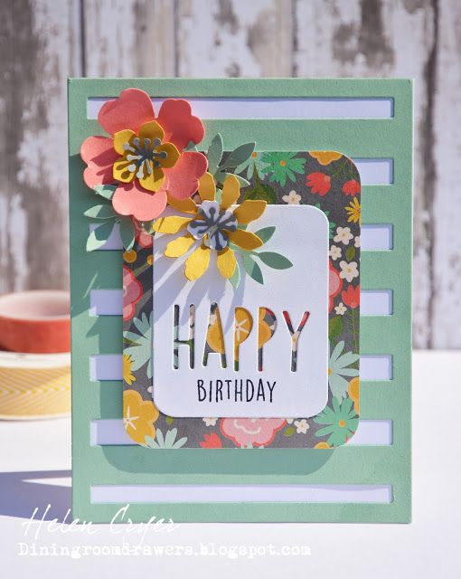 Reverse Confetti Happy Pretty Panel Card (The Dining Room Drawers)