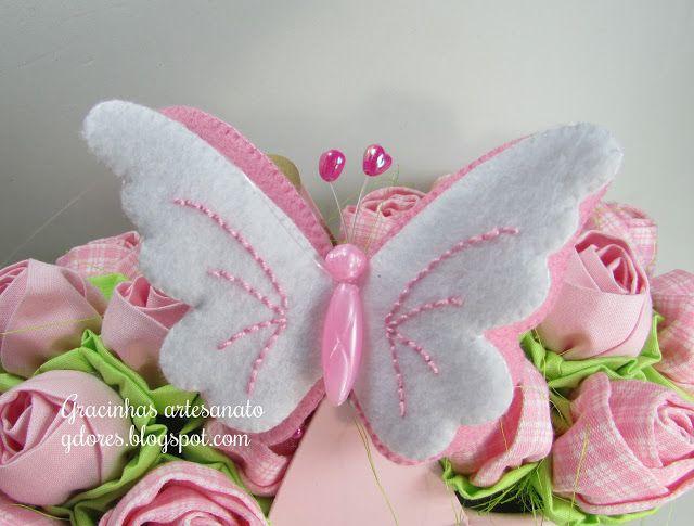 borboleta feltro (felt buterfly)   Gracinhas Artesanato