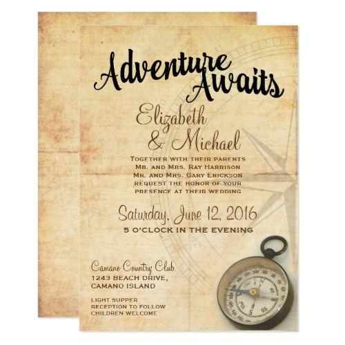18 best wanderlust wedding invitation images on pinterest vintage adventure travel wedding invitation stopboris Gallery