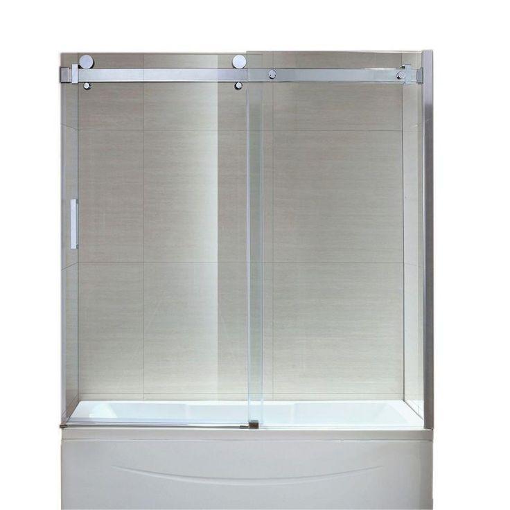 Enchanting Frameless Sliding Bath Shower Screens 48 Frameless Sliding Tub Door Semi Frameless Sliding Bathtub Doors