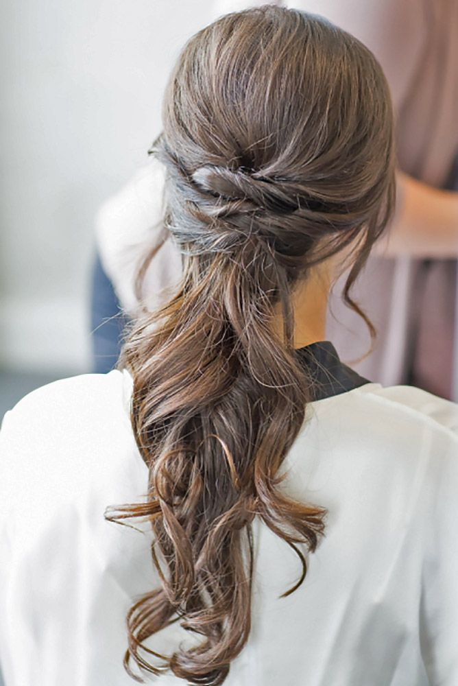 pony tails hair styles pony wedding hairstyles via kelsey combe photography 4376