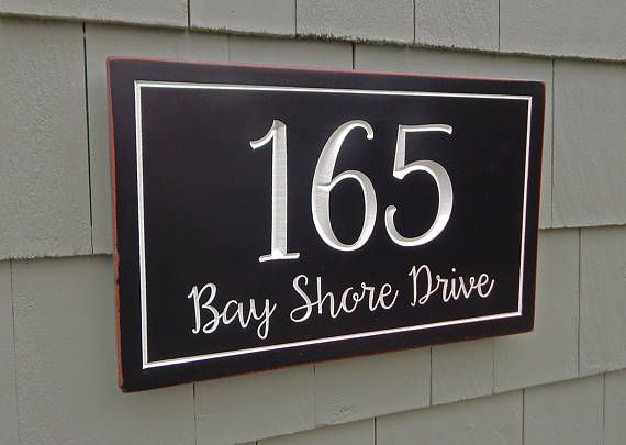 House Number Plaque  Address Plaque  House Sign  House