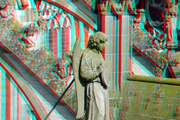 https://flic.kr/p/EVyBbi | Sint-Janskathedraal Den Bosch 3D | anaglyph stereo red/cyan