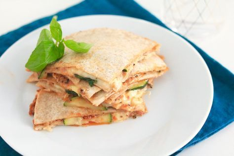 Quesadilla met courgette - 5 or less - chickslovefood