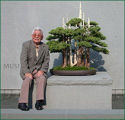 "John Naka via bonsai-nbf.org: In 1984 John bestowed upon the National Bonsai & Penjing Museum his bonsai, Goshin or ""Guardian of the Spirit"". #Bonsai #John_Naka"