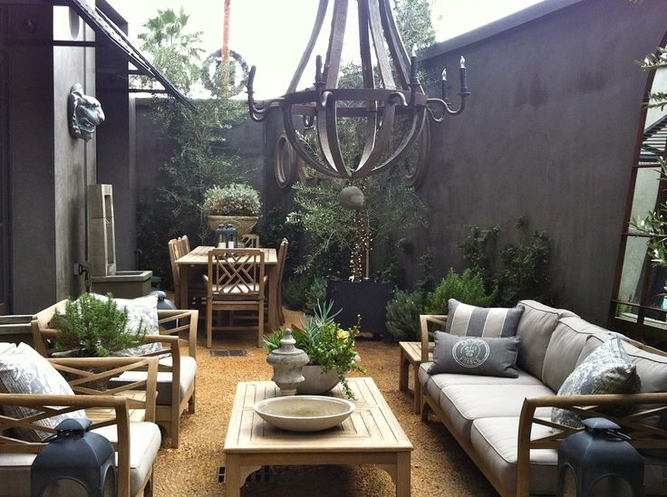 Delight visitors with an unexpected retreat outside.