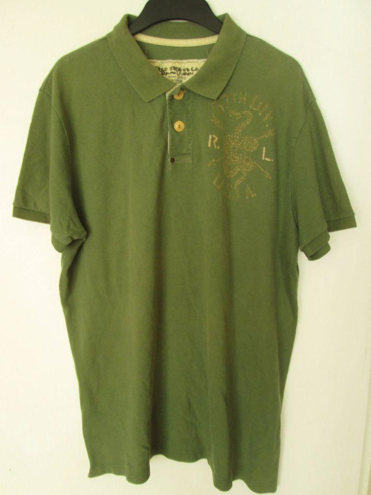Polo Jeans Co Ralph Lauren Mens Green Polo Shirt Size XL Used Condition Worldwide Shipping by ForgottenTreasuresEU on Etsy #RalphLauren #PoloJeansCoRalphLauren #PoloShirt