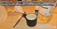 Un truc tout simple pour économiser sur les produits adoucissants est de les remplacer par du vinaigre blanc. Oui oui, vous avez bien lu : du vinaigre blanc.  Découvrez l'astuce ici : http://www.comment-economiser.fr/truc-astuce-adoucir-le-linge-avec-vinaigre-blanc.html?utm_content=bufferc08ef&utm_medium=social&utm_source=pinterest.com&utm_campaign=buffer