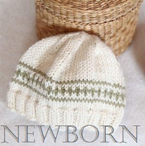 Ravelry: FREE Knit Beanie Newborn Hat pattern by epipa