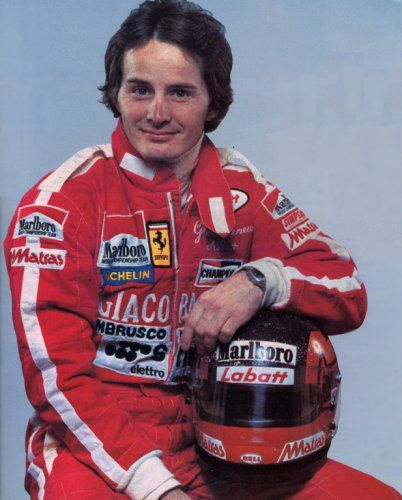 The late great Gilles Villeneuve, childhood hero - always sideways