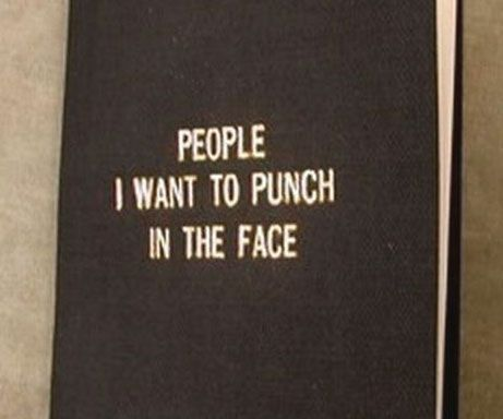 "Screw the high road! Give into your vengeful ways by keeping track of everyone that wronged you with the ""People I Want To Punch In The Face"" book. The book provides ample room to write down the countless individuals who've made the mistake of crossing you."