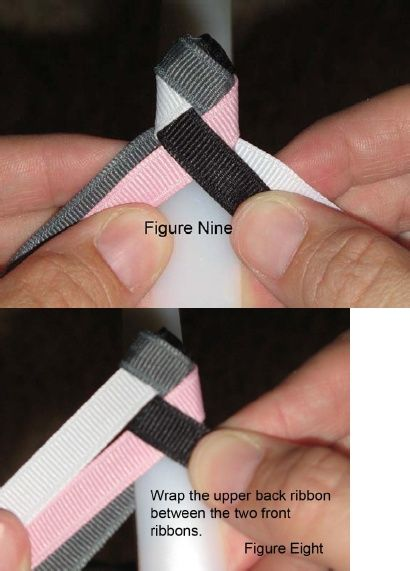 Making pretty ribbon wrapped headbands