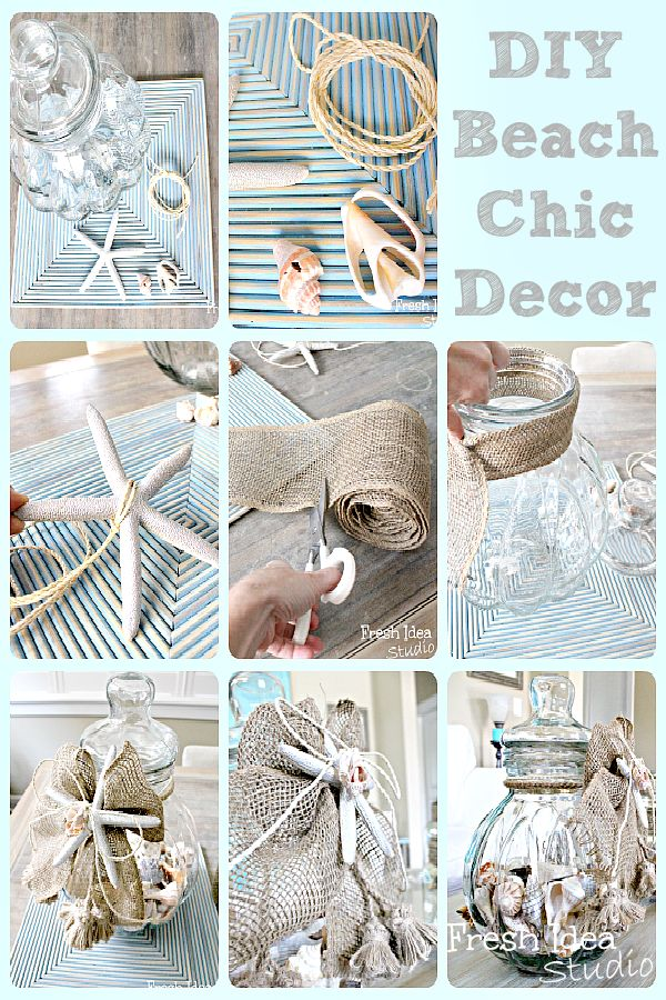 6 Easy Breezy Beach Inspired Projects: DIY Beach Chic Decor #ontheblogtoday #diy #beach #inspired #decorating