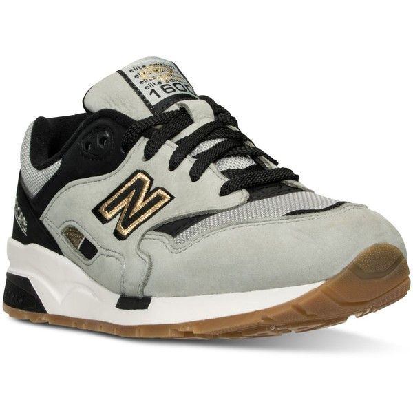 New Balance Women's 1600 Lost World Casual Sneakers from Finish Line ($120) ❤ liked on Polyvore featuring shoes, sneakers, new balance footwear, new balance trainers, retro shoes, retro sneakers and new balance