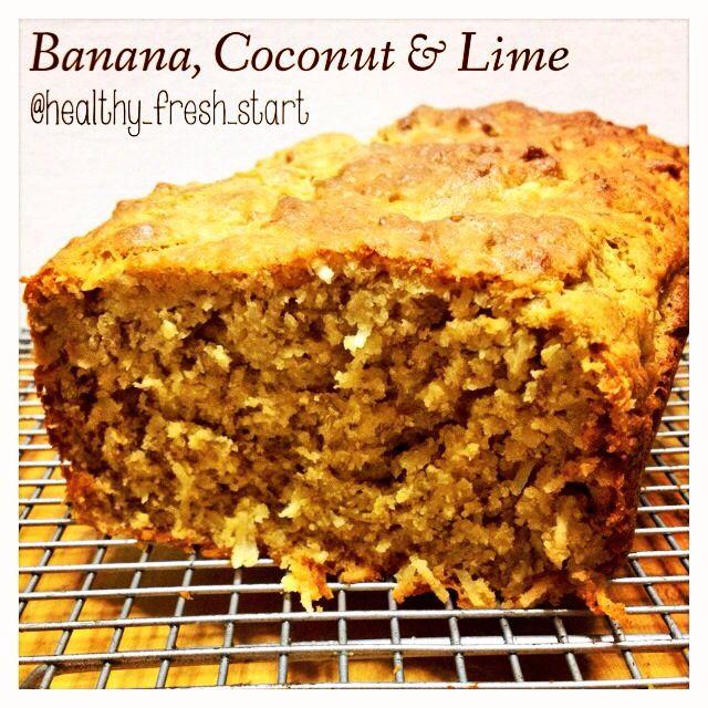 Banana, Coconut & Lime Bread #glutenfree #dairyfree #homemade #baking #bananabread #cleanfood #nutrition #wellness #soyfree #vegetarian #refinedsugarfree #coconut