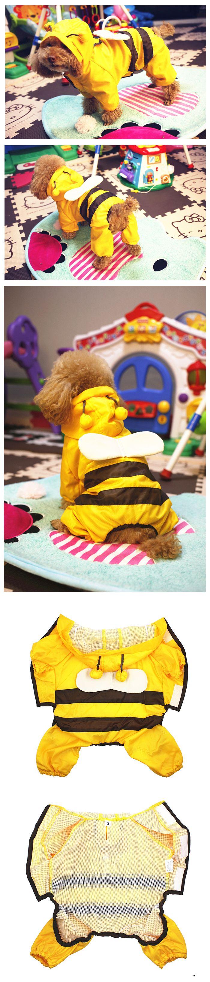Imperméable abeille pour chien chat