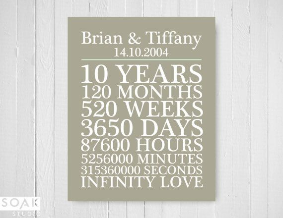 10th Wedding Anniversary Gift For Him: 25+ Best Ideas About 10th Anniversary Gifts On Pinterest