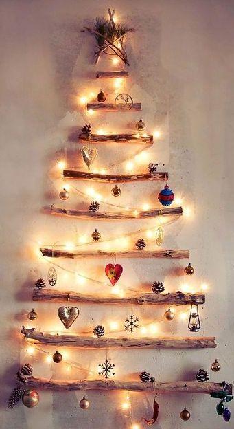 Albero di Natale fai da te con legni di mare