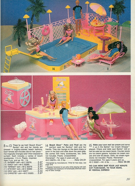 I had the Barbie Ice Cream Shop.  I know that I had a Barbie pool, but I can't seem to find a picture of the one that I had. lol