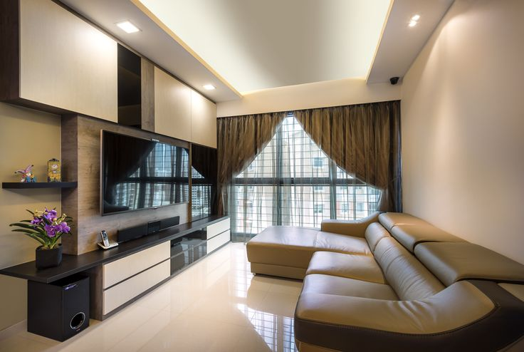Open Plus Concealed Storage Tv Feature Wall Living Room