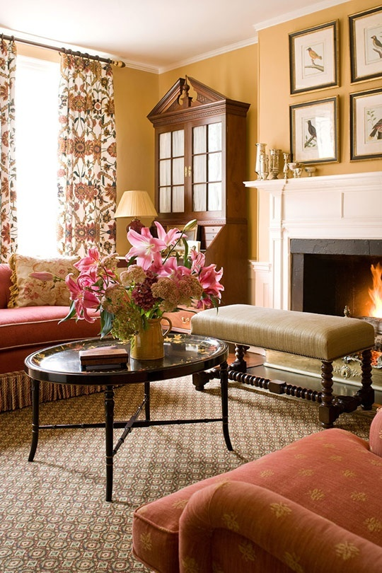 Best 10 orange wall paints ideas on pinterest painted - Traditional living room paint colors ...