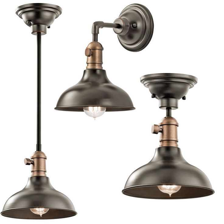 "View the Kichler 42579OZ Olde Bronze Cobson Mini Pendant / Ceiling Light / Wall Sconce - 8"" Wide at Build.com."