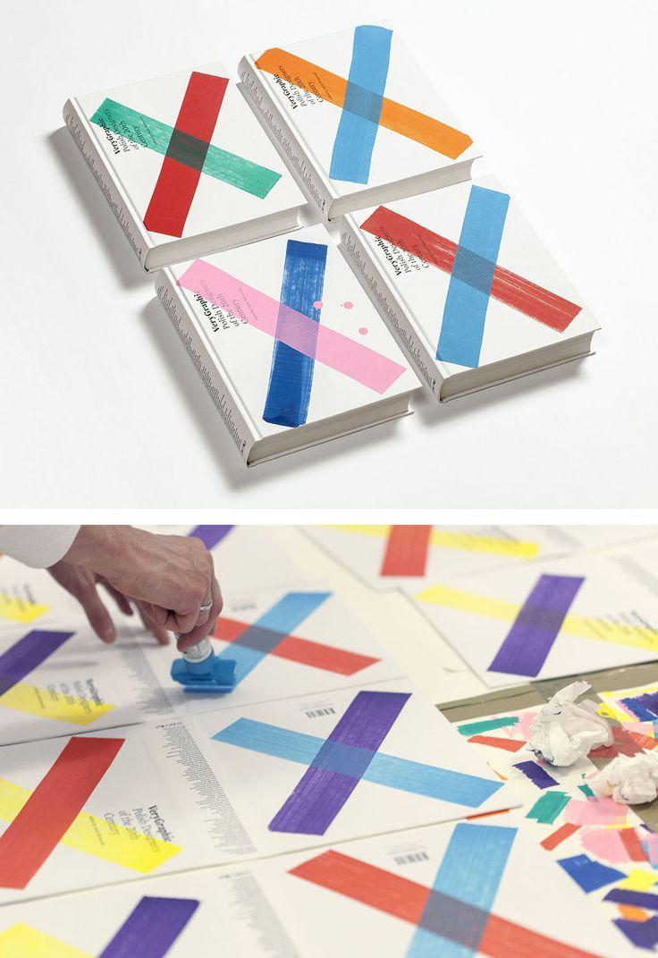 Handmade book cover: VeryGraphic: Polish Designers of the 20th Century, 2014