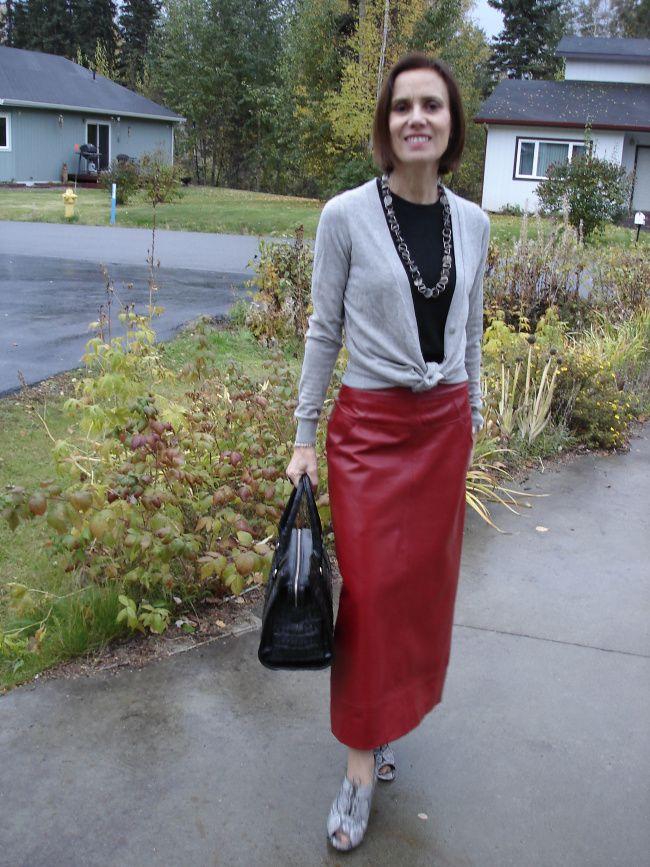 17 bästa idéer om Long Leather Skirt på Pinterest | Svart läder