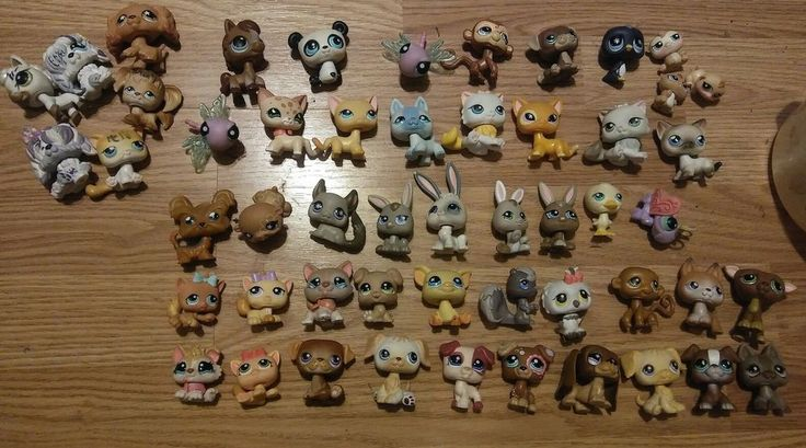 LOT OF 52  Littlest Pet Shop LPS DOGS AND CATS Rares  #Hasbro
