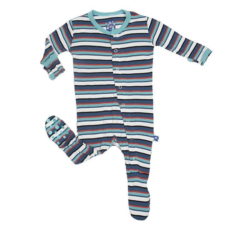 KicKee Pants Goldfish Stripe Footie - Baby Boy