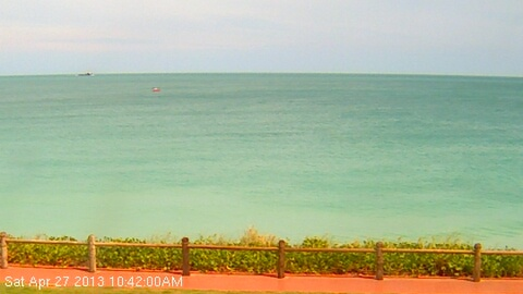 That views alright! Live Webcam feed from Cable Beach in Broome.