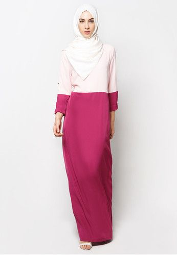 Colourblock Maxi Dress