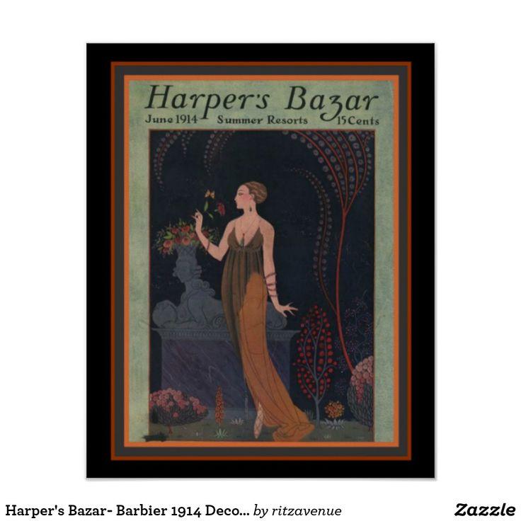 Harper's Bazar- Barbier 1914 Deco Cover 16 x 20 Poster  $16