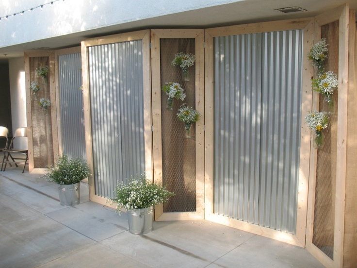 Ruffled® | See ads - Corrugated Tin and Chicken Wire Panels - Backdrops