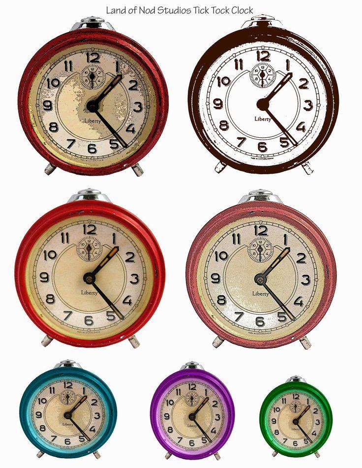Collage Sheet Altered Photos Of My Vintage Alarm Clock Land Nod Studios