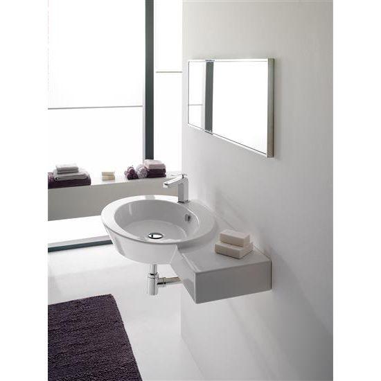 WISH lavabo da appoggio o sospeso 87x52 - Bagno Italiano
