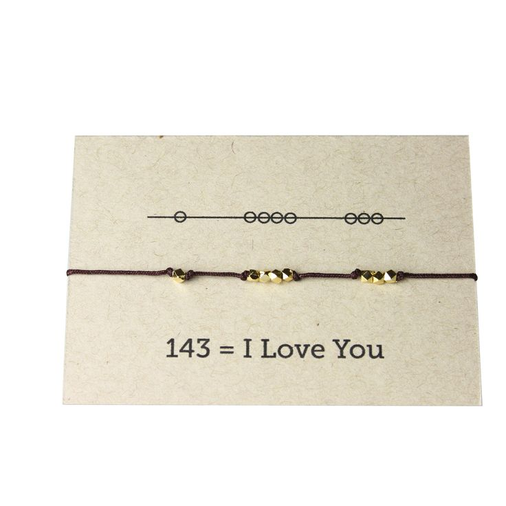 "This isn't just a super cute layering bracelet, it also communicates ""I love you"" in code. Bracelets make a great gift for sisters, best friends, mothers to daughters, you name it. Such a fun secret w"