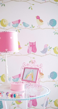 """Have I died and gone to heaven??? This """"What a Hoot"""" wallpaper by Harlequin is the cutest thing I have EVER seen."""
